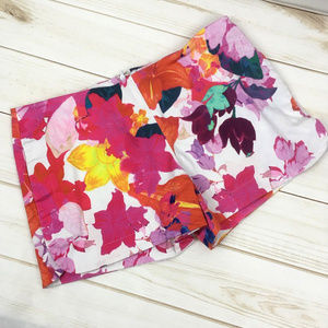 Bright Colorful Floral Cotton Stretchy Shorts Sz 2